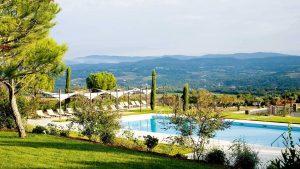 Die Aussicht, welche das Fünf-Sterne-Hotel bietet, ist einzigartig. Foto: Coquillade Village