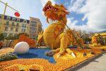 """Das Zitronenfest """"Fête du Citron"""" in Menton findet seit 1934 statt."""