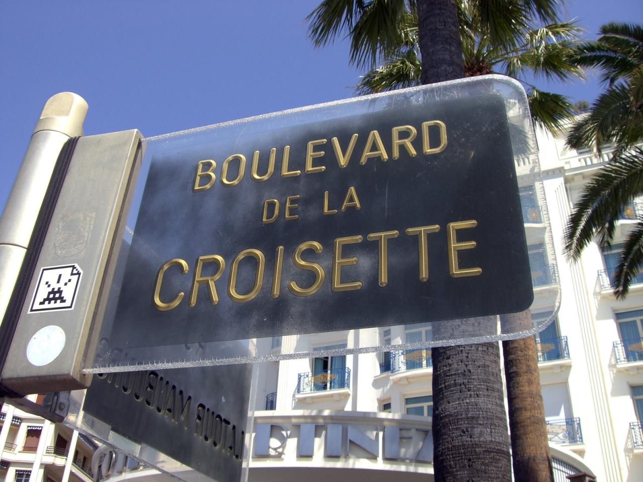 Auf der 'Boulevard de la Croisette' bebt jährlich im Mai der Boden: Denn dann finden dort die Filmfestspiele statt.