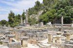 Das antike Zentrum der ehemaligen römischen Stadt ist als Ruine erhalten.