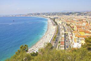 """Die berühmte """"Promenade des Anglais"""" in Nizza wird 250 Jahre alt. Nun möchte die Stadt an der Mittelmeer-Küste ihre Uferpromenade auf die Welterbeliste setzen."""