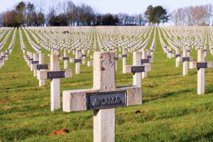 Der Nationalfriedhof Notre-Dame-de-Lorette war der Schauplatz eine der blutigsten Schlachten des Ersten Weltkriegs.