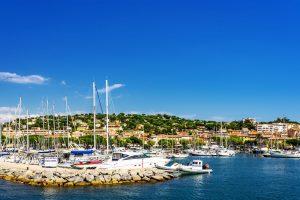 Sainte-Maxime liegt im Norden des Golfs von Saint-Tropez